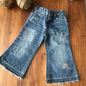 Pumpkin 🎃 Patch toddler girl distressed jeans 2